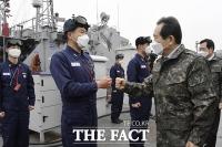 [TF사진관] 정세균 총리, 연말 해군장병 격려 위해 인천해역방어사령부 방문