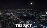 [TF포토] 서울 도심 비추는 희망의 달빛