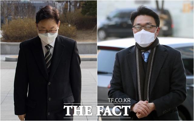 여야가 박범계(왼쪽) 법무부 장관 후보자, 김진욱 고위공직자범죄수사처장 후보자 청문회 준비에 돌입했다. 야당은 두 후보자 관련 의혹들을 송곳 검증할 예정으로 인사청문회가 뜨거워질 것으로 전망된다. /이새롬·이동률 기자
