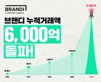 브랜디, 론칭 5년 만에 누적 거래액 '6000억 원' 돌파
