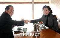 [TF사진관] 홍준표 만나 조언 구한 나경원