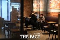 [TF포토] '카페 실내 시식 허용'