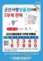 군산시, 내달 1일부터 지역상품권 5부제 판매 시행