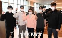 [TF포토] 피트니스 센터 방문한 나경원