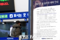 [TF포토] '비대면 예매' 설 승차권 판매 시작