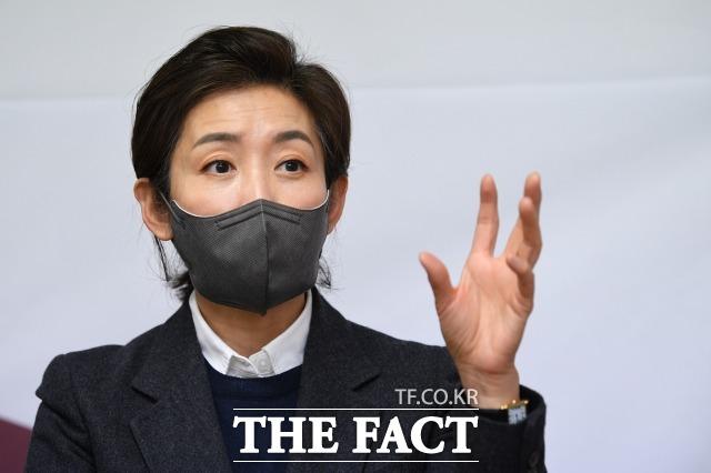 나 전 의원은 출마 선언 당시 서울형 기본소득제도와 숨통트임론을 들고 나왔다. 그는 의미있는 지원이라고 평가했다. /남윤호 기자