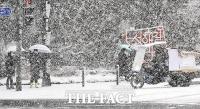 [TF사진관] 함박눈이 눈앞을 가려...서울은 다시 또 겨울왕국