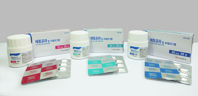 레토프라(Letopra)는 S-Pantoprazole 성분의 PPI로 RS-Pantoprazole 절반 용량으로도 GERD 증상 개선 효과를 확인했다. /안국약품 제공