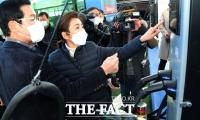 '버스 안전' 점검 나선 나경원 [TF사진관]
