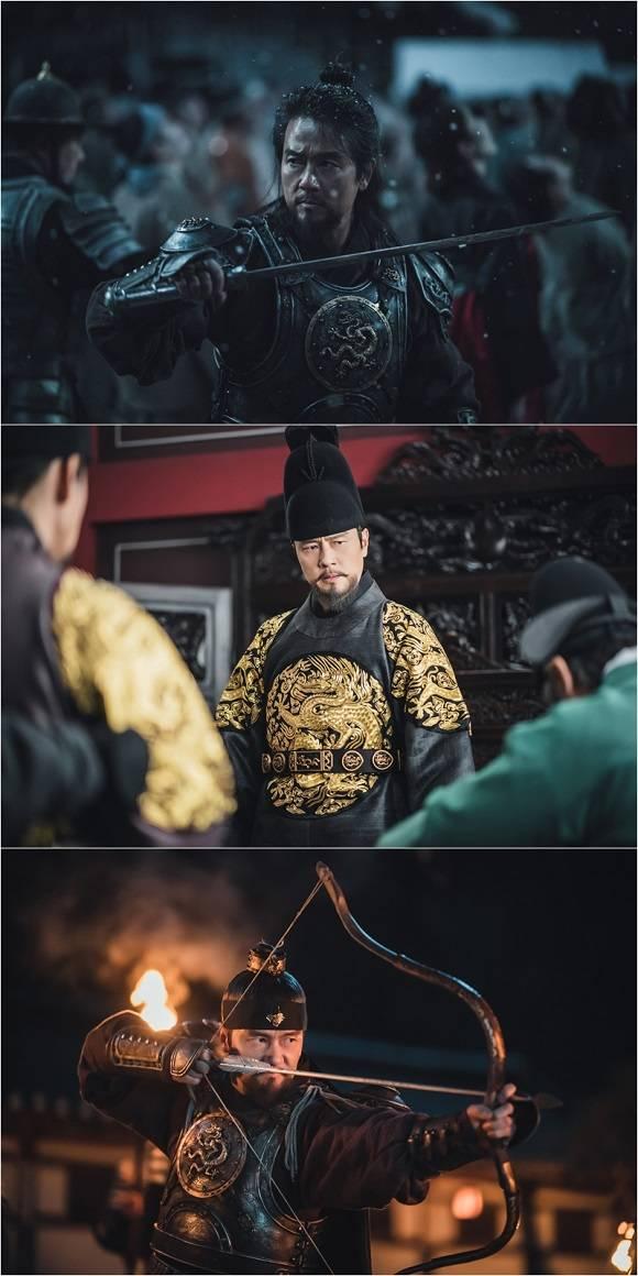 SBS 새 월화드라마 조선구마사에서 태종 이방원 역을 맡은 감우성의 첫 스틸 컷이 16일 공개됐다. /스튜디오플렉스, 크레이브웍스, 롯데컬처웍스 제공