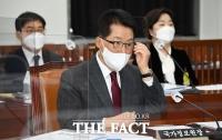 국회 정보위원회 출석한 박지원 국정원장 [TF사진관]