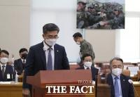 '북 남성 헤엄쳐 월남'…고개 숙인 서욱 국방부 장관 [포토]
