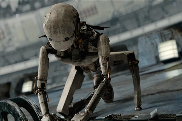 작살 로봇 업동이는 유해진의 모션 캡처 연기로 만들어졌다. /넷플릭스 제공