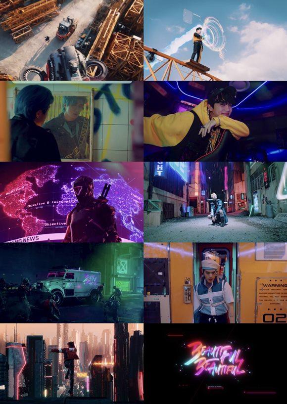 그룹 온앤오프가 첫 정규 앨범 ONF:MY NAME(온앤오프:마이 네임) 타이틀곡 Beautiful Beautiful(뷰티풀 뷰티풀) 뮤직비디오 티저를 공개했다. /WM엔터테인먼트 제공