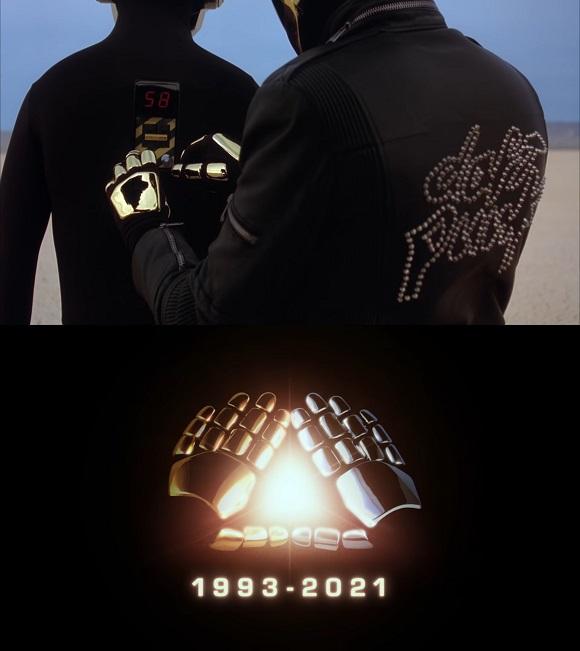 다프트 펑크는 22일(현지시간) 자신의 유튜브 채널에 Epilogue라는 제목의 영상을 올리며 28년 만에 해체 알렸다. /다프트 펑크 유튜브 영상 캡처