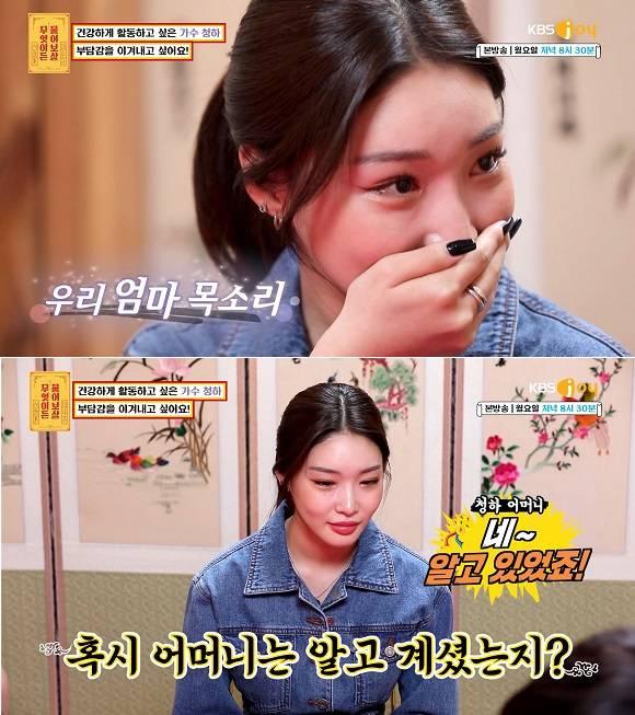 22일 방송된 KBS joy 무엇이든 물어보살 101회에서는 청하가 의뢰인으로 등장해 눈길을 끌었다. /KBS joy 무엇이든 물어보살 영상 캡처