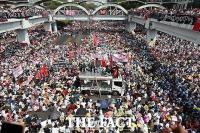 미얀마 22222 총파업, 군부 유혈진압 경고에도 수백만명 모여 [TF사진관]