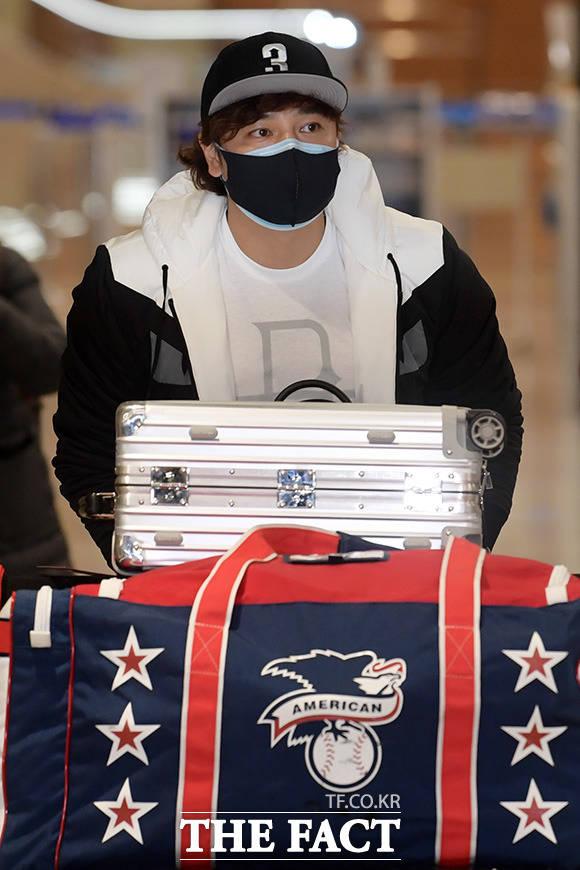2021년 2월 25일, 20년 미국 야구 생활을 끝내고 한국으로 돌아 온 추신수.