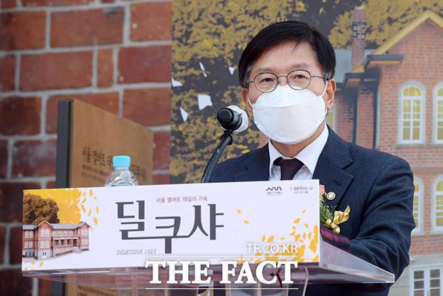 축사하는 김현모 문화재청장.