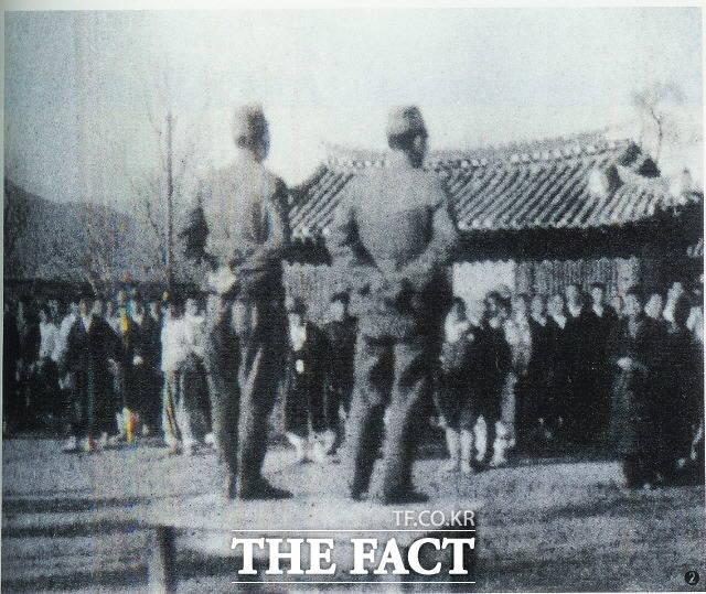 강제동원을 위해 선전활동을 펼치고 있는 일본군. /근로정신대할머니와함께하는시민모임 제공