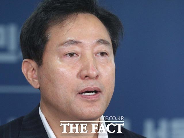 4일 국민의힘 서울시장 후보로 선출된 오세훈 후보가 야권 단일화에 승리할 수 있을지 주목된다. 3자 구도 가능성도 나오는 가운데 단일화 방식에 관심이 몰리고 있다. /남윤호 기자