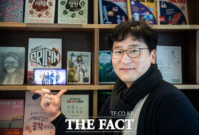 윤승민 작가는 승리호 작업 당시 영화 속 인물들처럼 자포자기 상태였다고 밝혔다. /이동률 기자