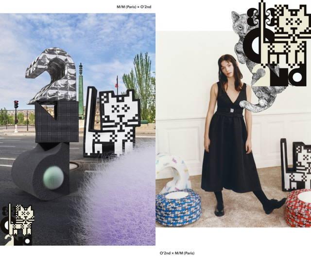 한섬의 여성캐주얼 브랜드 오즈세컨이 M/M Paris와 아트 컬렉션을 선보인다. /한섬 제공
