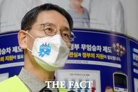 '지하철 재정난 호소'…인터뷰하는 김상범 사장 [포토]