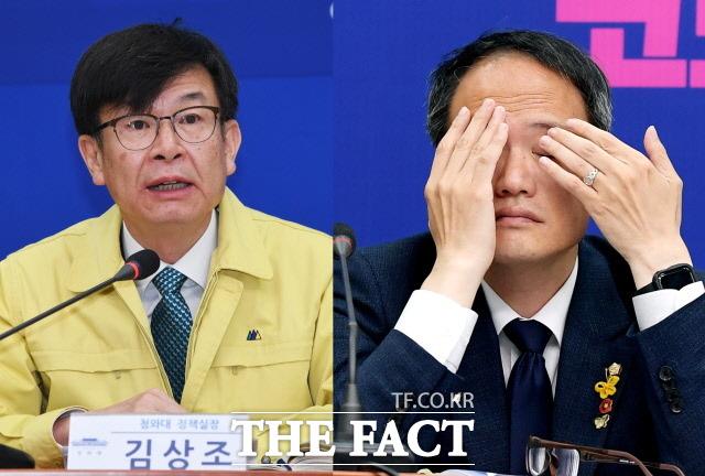 김상조 전 청와대 정책실장과 박주민 더불어민주당 의원의 임대차 3법 통과 전 임대료 인상은 내로남불 논란을 불러왔다. /배정한·이선화 기자