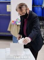 4.7 재보선 투표 진행하는 이순재 [TF사진관]