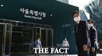 '다시 돌아온 오세훈'...서울시청으로 첫 출근 [TF사진관]