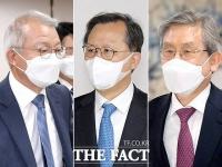 양승태·박병대·고영한, '사법권 남용 재판 출석' [TF사진관]