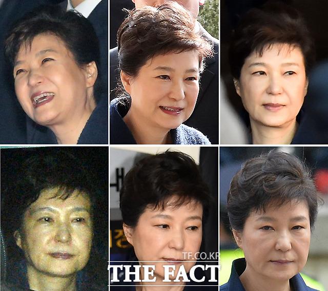 탄핵에서 구속에 이르기까지 박근혜 전 대통령의 표정 모음./더팩트DB