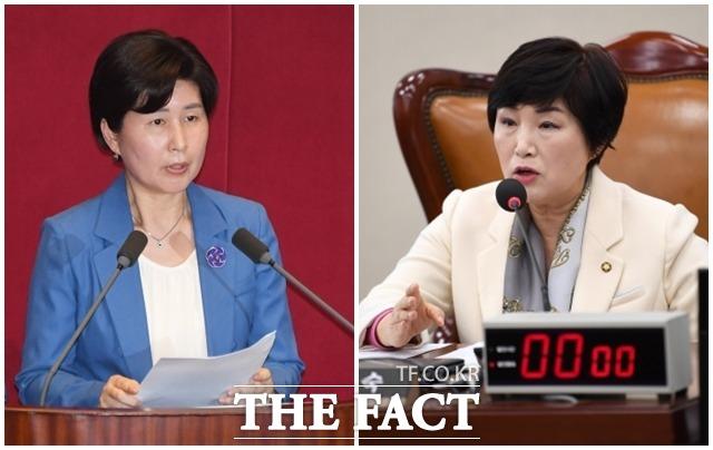 민주당 5·2전당대회 최고위원에 출마한 백혜련(왼쪽), 전혜숙 의원. /배정한·남윤호 기자
