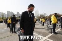 묵념하는 주호영 대표 권한대행 [포토]