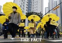 '잊지 않겠습니다'...세월호 7주기에 추모 행진 이어가는 시민들 [TF사진관]