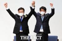 윤호중-박완주, '원내대표 선출 앞둔 두 후보' [TF사진관]