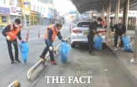 정읍시의회 조상중 의장, 환경정비 어르신과 함께 길거리 청소