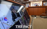 OGP(열린정부파트너십)의장단 영상면담하는 전해철 행안부 장관 [TF사진관]