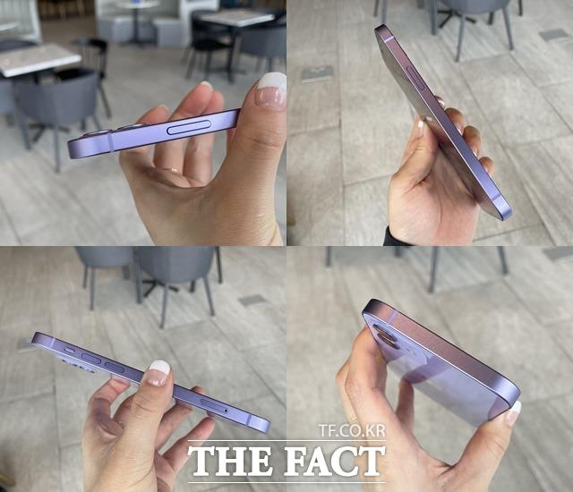 아이폰12 퍼플의 전체적인 디자인은 지난해 출시된 아이폰12 시리즈와 동일하다. /최수진 기자
