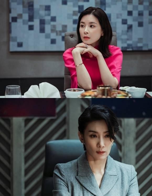 마인은 이보영(위쪽)과 김서형의 연기 시너지가 가장 큰 기대 포인트다. /tvN 제공