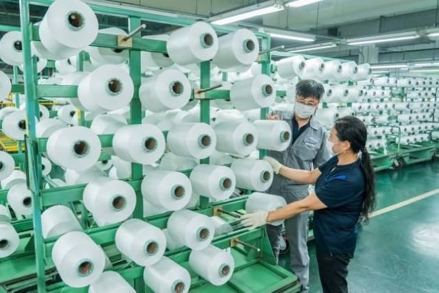 효성티앤씨는 폐페트병에서 뽑은 원사로 만든 친환경 폴리에스터 섬유 리젠을 개발해 공급하고 있다. /효성티앤씨 제공