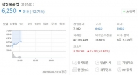 삼성중공업, 감자·유증 소식에 장 초반 21% 급락
