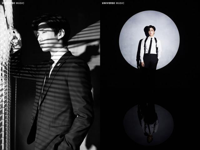 유니버스 뮤직이 강다니엘의 신곡 콘셉트 사진을 공개했다. 시크하고 강렬한 분위기가 눈길을 사로잡는다. /유니버스 뮤직 제공