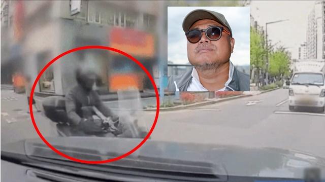 오토바이를 치고 달아난 혐의(뺑소니)를 받고 있는 김흥국은 차량 블랙박스 영상이 공개된 이후 저도 해당 영상을 수백번 반복해서 봤지만 누가봐도 다분히 의도된 사고였다고 억울해 했다. /TV조선 캡쳐, 더팩트 DB