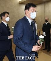 송영길, 침통한 표정으로 고 이한동 전 국무총리 빈소 조문 [TF사진관]
