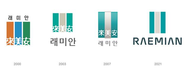 삼성물산 건설부문이 공개한 래미안 브랜드 BI 변천사. /삼성물산 제공