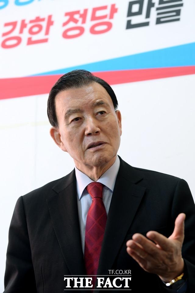 홍 의원은 문재인 대통령 취임 4주년 연설에 대해 저분이 대한민국을 민주당 사람들로 보는 건가 싶었다라며 질타했다. /이선화 기자
