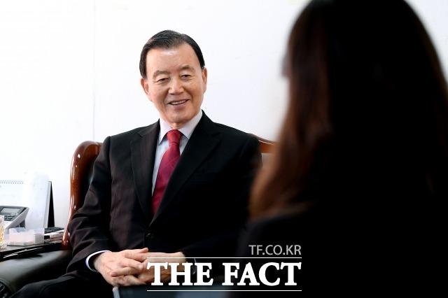 홍 의원은 당·조직·선거·정책을 언급하며 자신이 적임자임을 거듭 강조했다. /이선화 기자