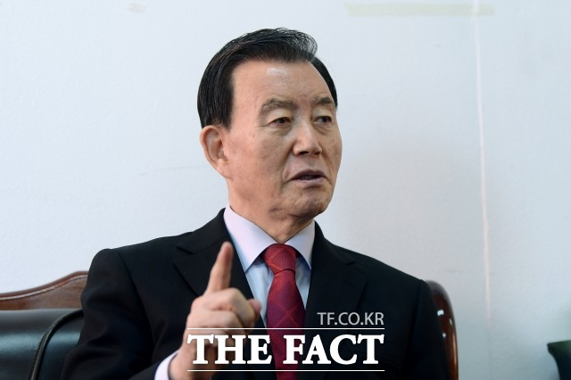 홍 의원은 국민의힘의 유일한 충청권 후보다. 그는 호남을 끌어안고 전국 정당으로 나아가야 한다고 힘주어 말했다. /이선화 기자